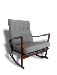Mid-Century Modern Danish Rocking Chair by Ib Kofod Larsen for