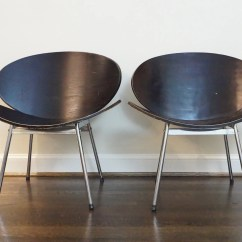 Clam Shell Chair High Attaches To Counter Mid Century Chairs Pierre Paulin Style Orange