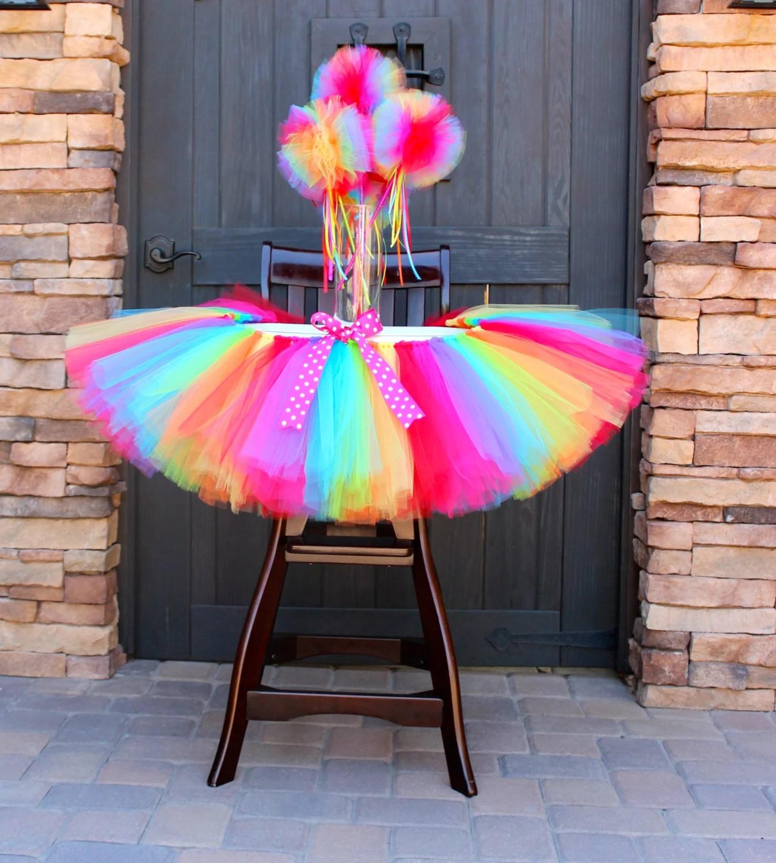 high chair tutu large bean bag chairs cheap rainbow decoration
