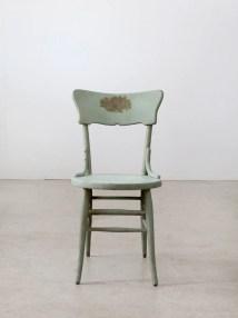 Vintage Painted Wood Chair Primitive