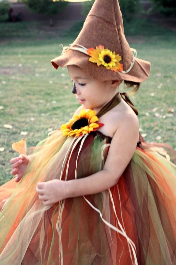 Not so Scary Scarecrow Halloween Tutu Costume size 24mo 2Tto