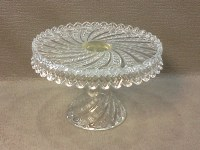 Fostoria Centennial Cake Plate Diamond Point Swirl Wedding