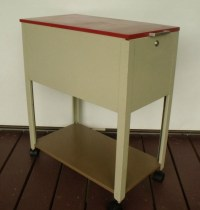 Rolling Cabinet Mid Century Modern Bedside Table Kitchen Cart