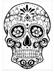Items similar to String Art featuring Day of the Dead