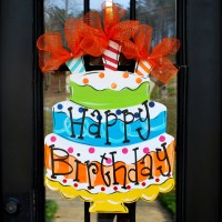 Happy Birthday Sign Birthday Door Decor Happy by ...