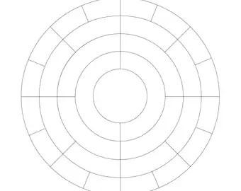Family Tree Scrapbook Chart 12x12 inch 5-6 generations