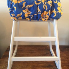 Carters High Chair Cover Glass Table With Chairs Hula Moon Shopping Cart In Blue And Gold
