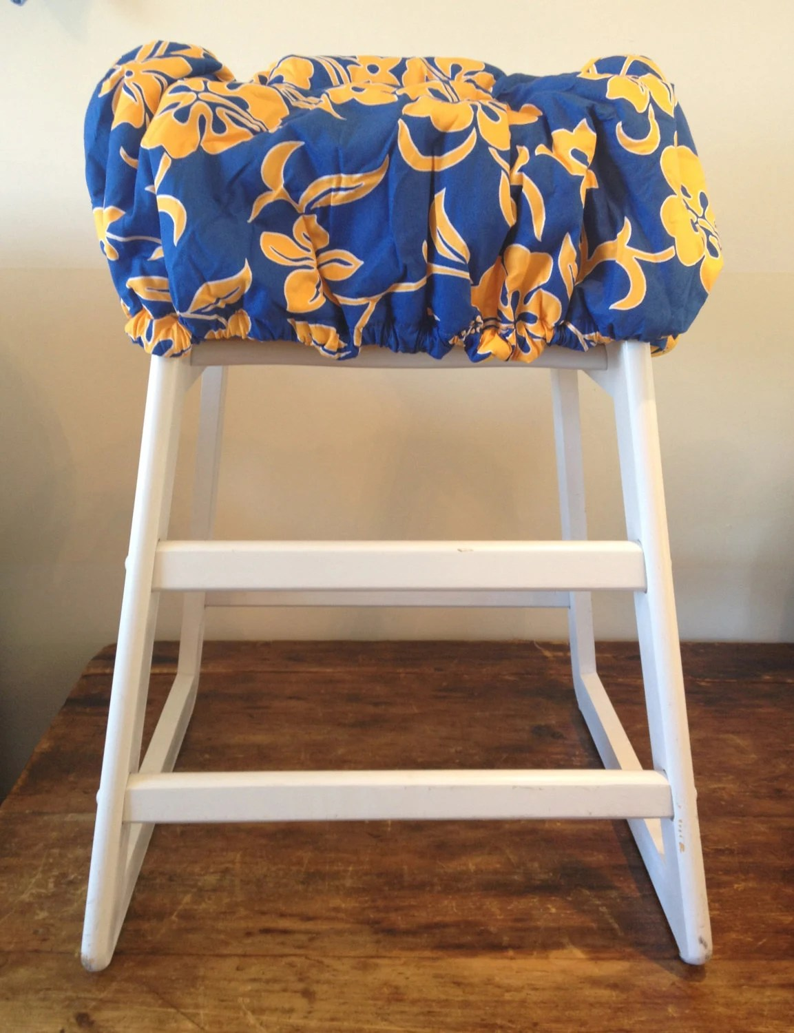 High Chair Covers Hula Moon High Chair Cover Shopping Cart Cover In Blue And Gold