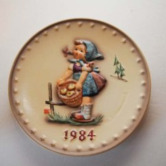 Rooster Kitchen Decor Buffet For 1984 Mj Hummel Annual Plate Girl With Apples