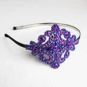 purple hair accessories prom