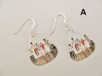 One direction earrings in sterling silver 1D Earrings One