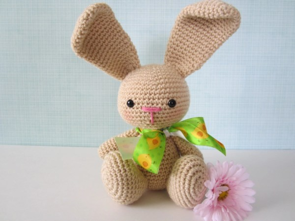 Easter Bunny Plush Stuffed Animal Crochet