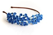 blue flower hair accessory
