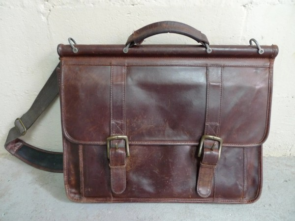 Brown Wilson Leather Pelle Studio Briefcase