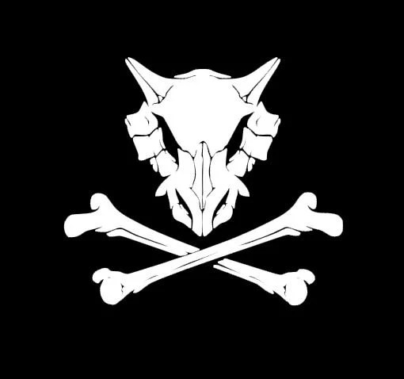 Sugar Skull Wallpaper Hd Cubone Skull Amp Crossbones Decal