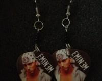 eminem guitar pick earrings