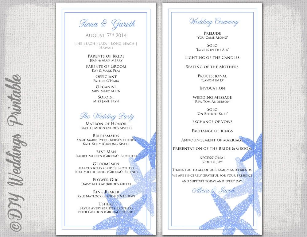 word wedding templates