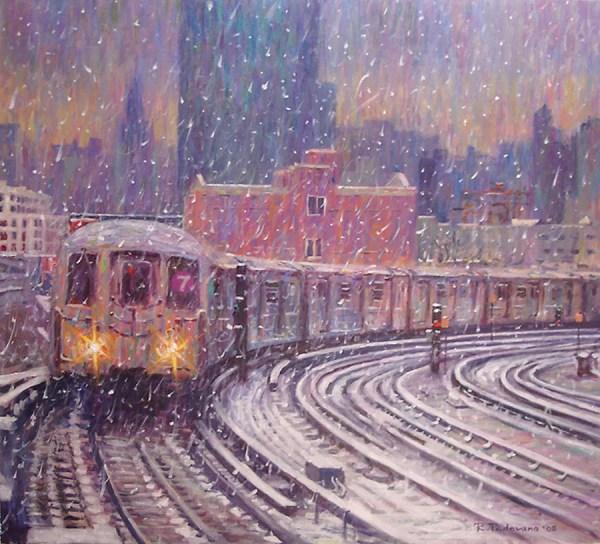 Winter Snow 7 Train fine art giclée print of an original