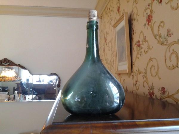 Vintage Glass Wine Bottles with Cork