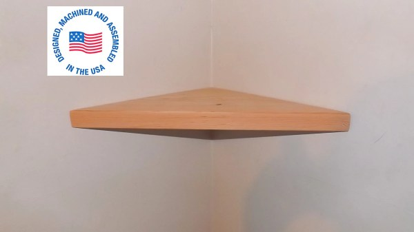 22 Inch Floating Corner Shelf