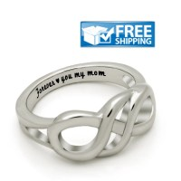 Mother Ring Infinity Promise Mom Ring Engraved with by Farzo