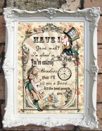 ALICE in WONDERLAND Art Print. Alice in Wonderland Decor.