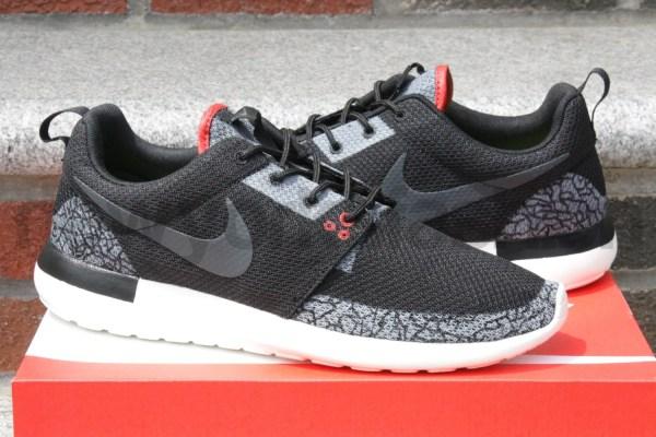 Nike Roshe Run Jordan 3 Black Cement Custom Mens Nycustoms