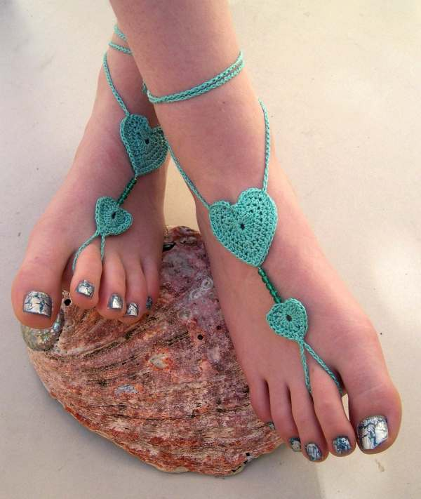 Crochet Jewelry Barefoot Sandals Handmade Marykcreation