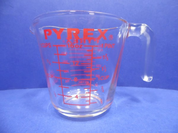 Pyrex 2 Cup Measuring Cup Red Letter Open Handle 16 Oz 516
