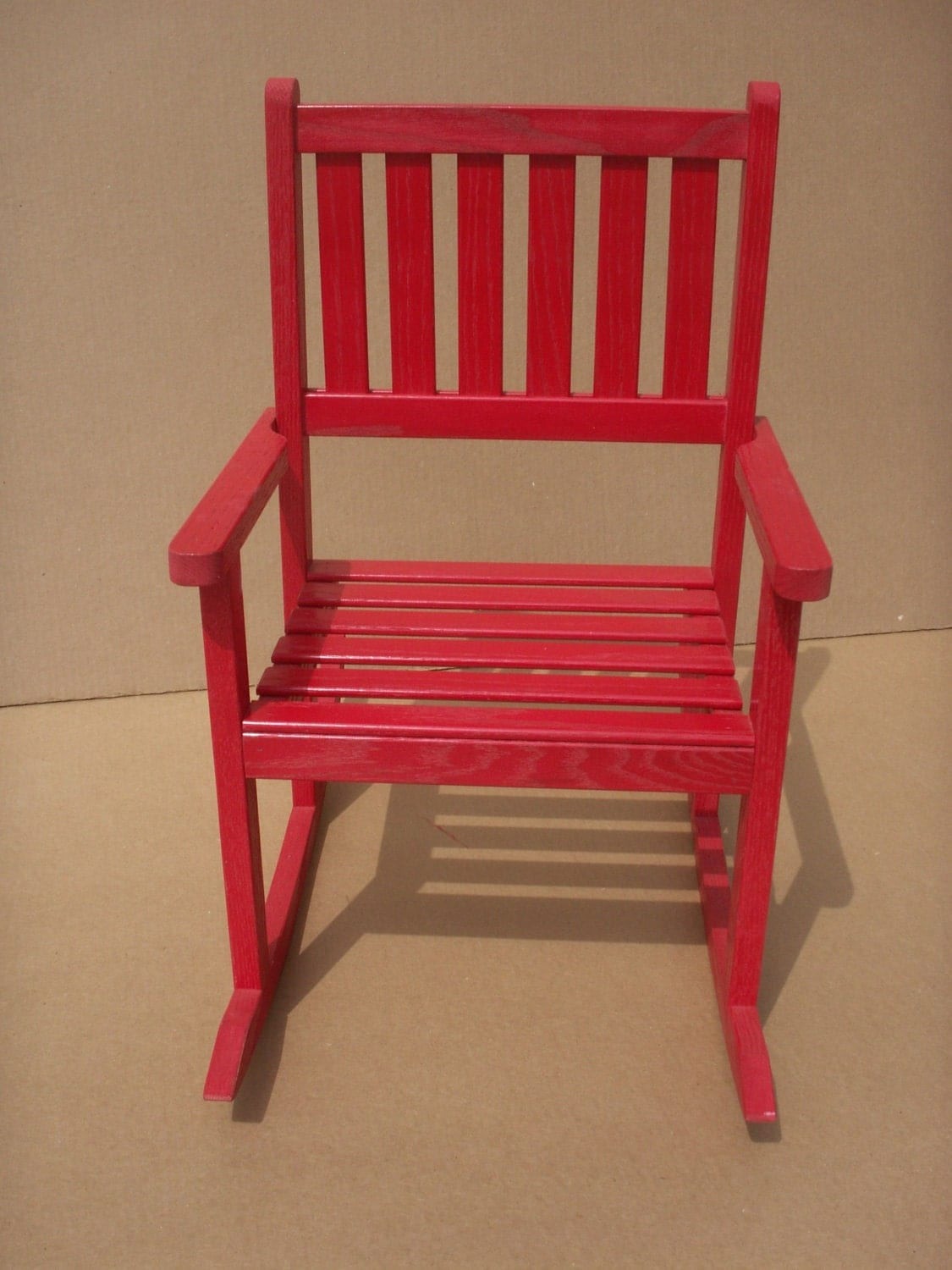 Red Rocking Chair Child 39s Solid Red Oak Rocking Chair Red By Ilbok On Etsy