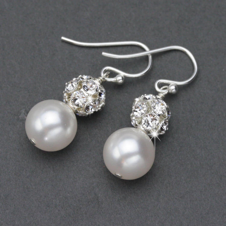 Pearl Wedding Earrings Classic Pearl Drop Earrings Wedding