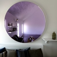 Purple wall mirror. Large hanging Art Deco by ...