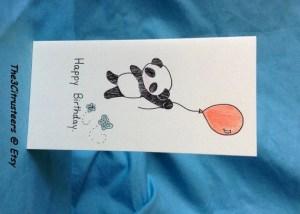 panda birthday happy drawn handmade