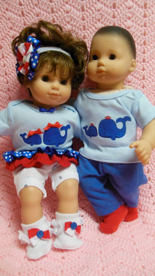 American Girl Bitty Twins Baby Clothes Double