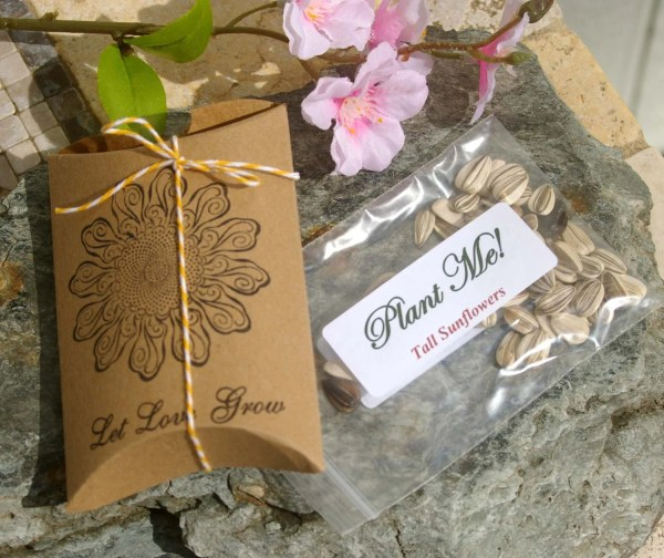 Let Love Grow Wedding Favors Sunflower Seed