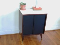 Record Cabinet Vintage Mid Century Modern Black by ...