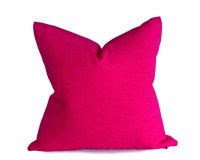 Solid Pink Pillows Woolly Fuschia Throw Pillow by ...