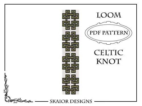 Loom Beading Pattern Celtic Knot Bracelet Cross Seed Beads