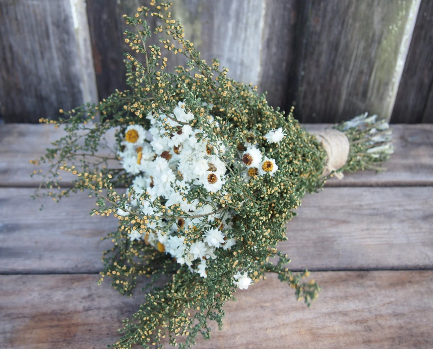 Simple COUNTRY Dried Flower Wedding Bouquet Preserved Bridal