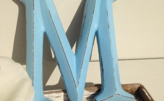 Wall Decor Shabby Chic Letters 4 Letters A Z