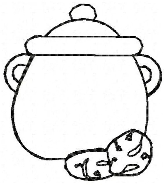 Cookie Jar Outline Embroidery Design by JEmbroiderynApplique