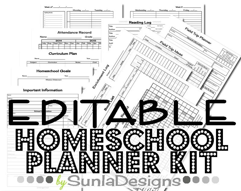 Popular items for homeschool planner on Etsy
