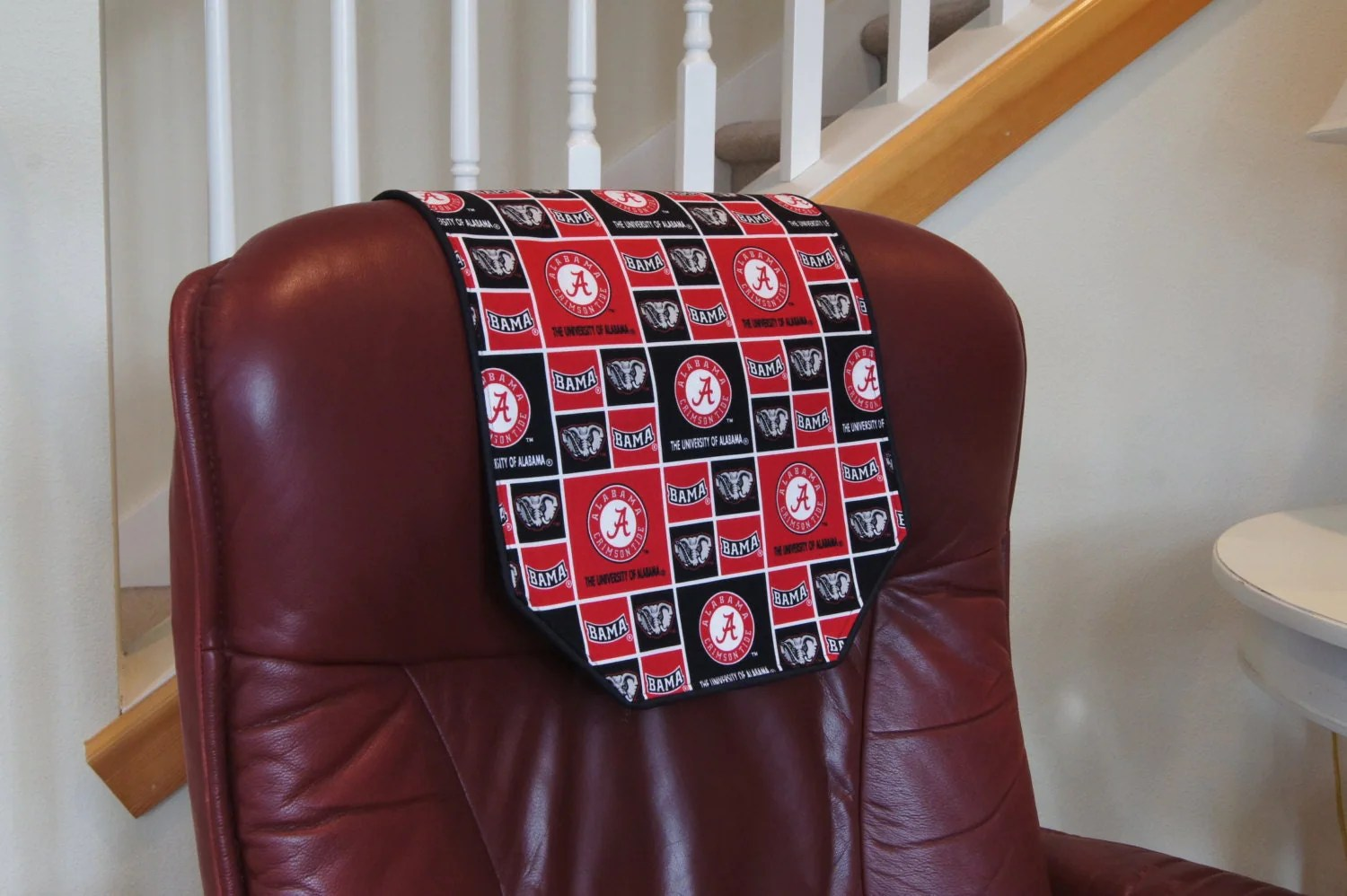 chair covers for headrest folding adirondack diy recliner cover university of alabama by