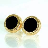 Onyx Stud Earrings Gold Black Onyx Post Earrings by