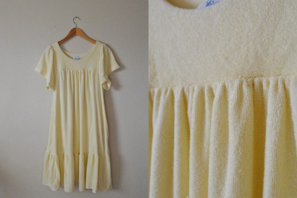 Vintage Terry Cloth Dress Swim Cover Poll