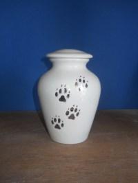 Aqua ceramic urn