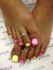 monogram nail decals pedicure