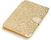 Sequins Golden Ipad Mini Case, Rhinestone Mini Stand Cover - trendcases