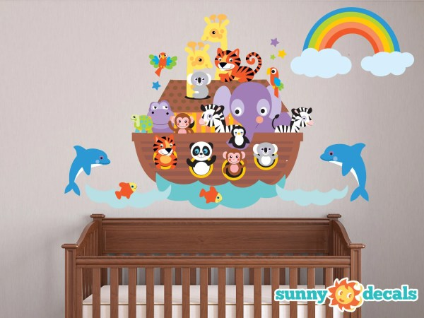 Noahs Ark Fabric Wall Decal Repositionable And Reusable