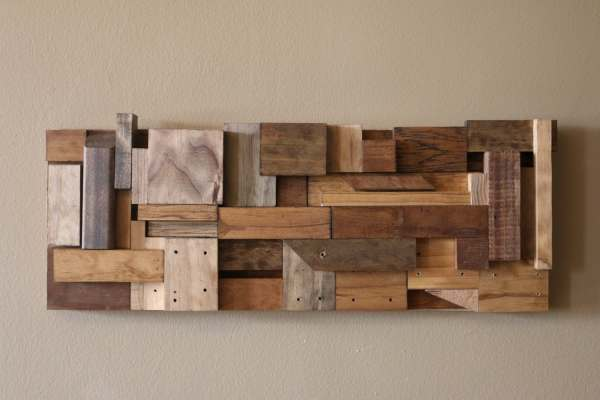 Reclaimed Wood Art Wall Scrap